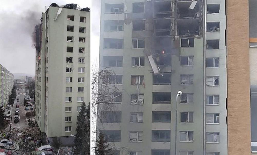Výbuch plynu v paneláku v Prešove 6.12.2019, foto 1