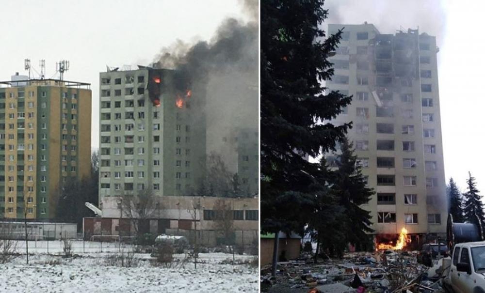 Výbuch plynu v paneláku v Prešove 6.12.2019, foto 2
