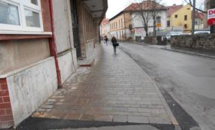 Rekonštrukcia chodníka na Kováčskej ulici