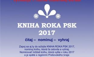 1. ročník čitateľskej súťaže Kniha roka PSK 2017