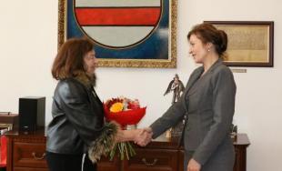 Livia Klasusová na návšteve v Prešove