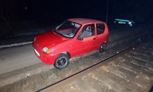 Auto na koľajisku Prešov-mesto