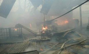 Požiar v areáli kaštieľa v Nižnej Šebastovej